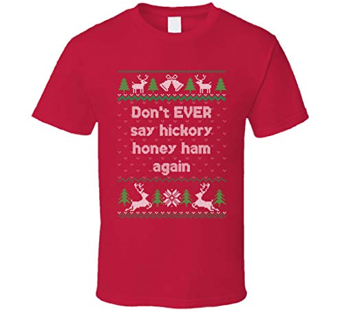 Hickory Honigschinken Weihnachten mit den Kranks Ugly T-Shirt rot Gr. 56, Schwarz