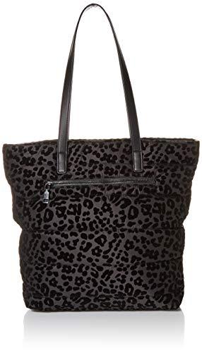 Betsey Johnson Women's Pretty Puffer Tote Bag, Black, 11' L x 4.25' D x 13' H