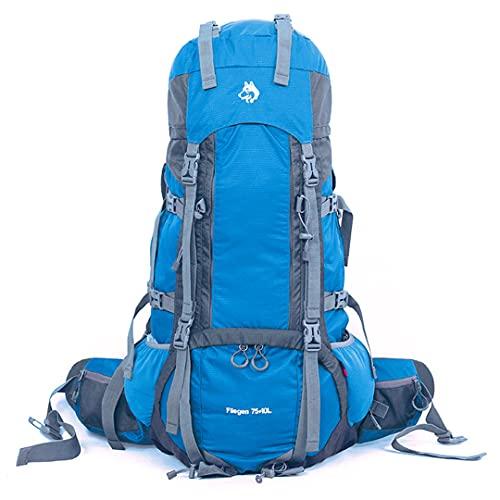 TH&Meoostny Bolsa de montañismo al Aire Libre Nylon de Alta Resistencia al desgarro Ajuste de 75 + 10L Mochila Pesada Hombros Blue Color Other