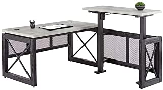 Urban Adjustable Height L Desk with Right Return 72