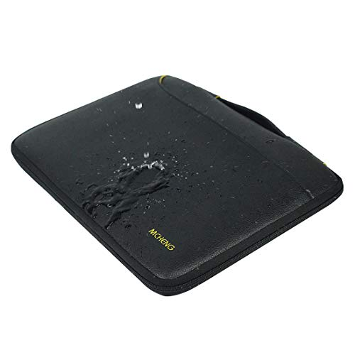 MCHENG 15-15,6 Zoll Wasserdicht Laptophülle Aktentasche Stoßfestes Laptoptasche Handtasche Notebook Hülle Tragetasche Schutzhülle mit Griff für MacBook Lenovo HP Acer Asus SAMSUNG Dell Toshiba,Schwarz