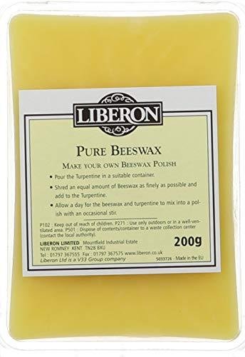 Liberon BPUR200G Bloc de cire d'abeille purifiée 200g