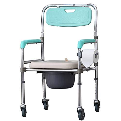 Silla con WC Silla de Inodoro Estilos Ajustables elevados para Personas Mayores,discapacitados,recuperación,Pacientes,atención domiciliaria,Vida asistida