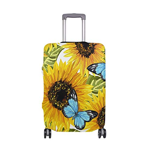 hengpai Sunflower Butterfly Travel Luggage Protector Suitcase Cover XL 29-32 in