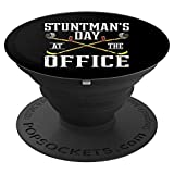 Day At The Office | Funny <span class='highlight'><span class='highlight'>Stuntman</span></span> Injury Gift PopSockets Grip and Stand for Phones and Tablets