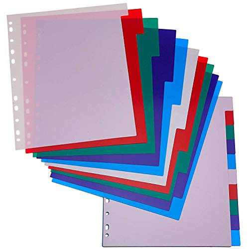 Kicko 3-Ring Binder Dividers with 10-Color Tabs – 2 Pack Durable Ring Binders for School, Kids and Adults – School Supplies, Office Accessories