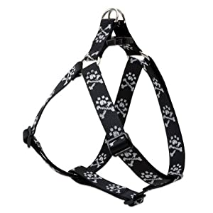 LupinePet Originals 1″ Bling Bonz 24-38″ Step In Harness for Large Dogs