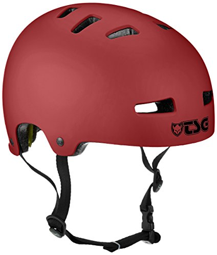 TSG Erwachsene Evolution Solid Color Halbschalenhelm, Satin Oxblood, L/XL
