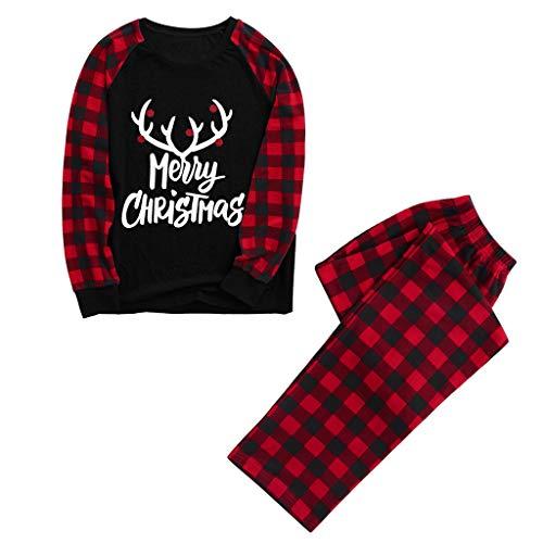 LILICAT Familie Kleidung Pyjamas Kinder Weihnachten Print Pyjama Schlafanzüge Lange Zweiteiliger Schlafanzug Jungen Mädchen Herren Damen Schlafanzug Tops und Hosen Set