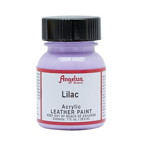 Angelus Brand Acrylic Leather Paint Water Resistant 1 oz - Select Your Color (#175 Lilac)