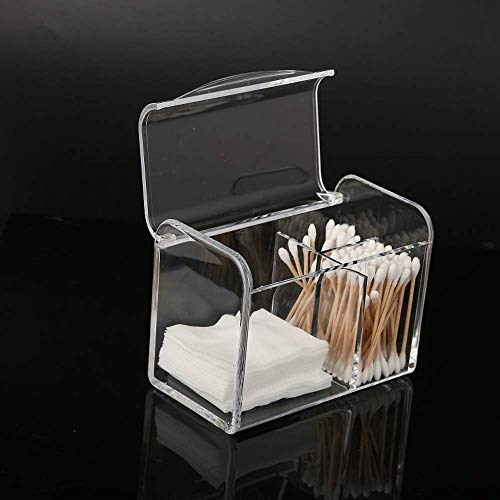 TYWZJ Cosmetics Box – Practical Bathroom Storage for Makeup, Cotton Pads & Accessories – Stylish Makeup Organiser with Lid – Clear