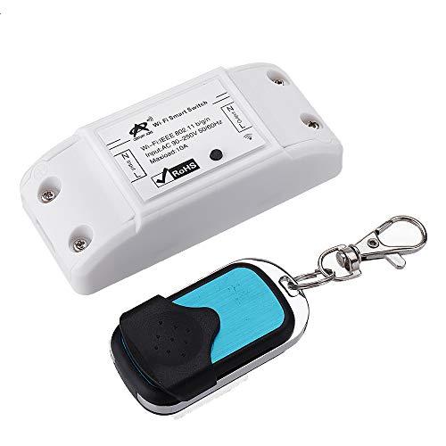 U – AC90-250 V 10 A WiFi afstandsbediening compatibel met Android/iOS besturingssysteem, Google Alexa, IFTTT, met RF zender