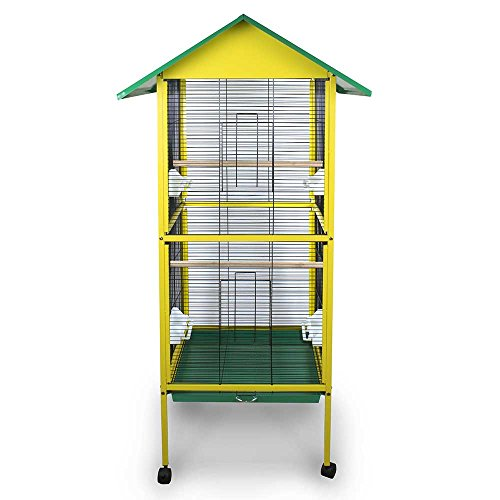 Pet s Solution Gabbia voliera per Uccelli canarini cocorite esotici inseparabili
