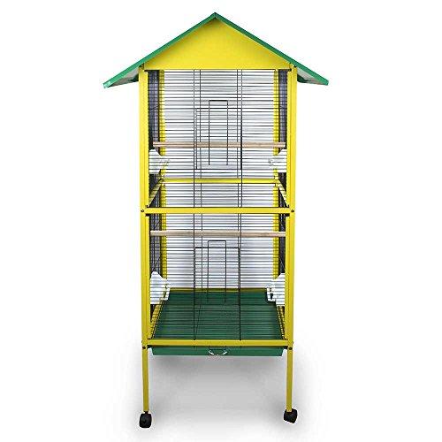 Pet's Solution Gabbia voliera per Uccelli canarini cocorite esotici inseparabili