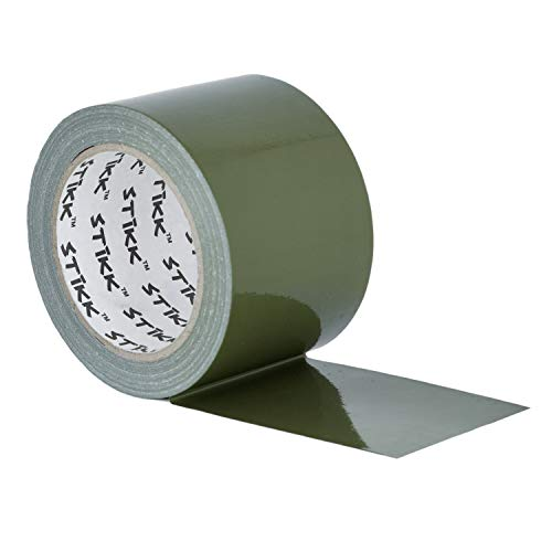 3' x 25 yd 7.5 Mil Thick Olive Drab Green Duct Tape PE Coated Weather Resistant (2.83 in 72MM)