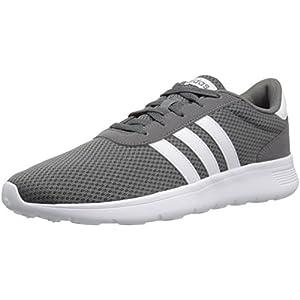 adidas Men's Lite Racer Running Shoe, Grey Four/White/Grey Four, 13 M US