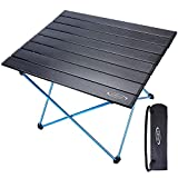 G4Free Camping Tables Portable Aluminum Folding Camp Table Lightweight Picnic Table Compact Roll-up with...
