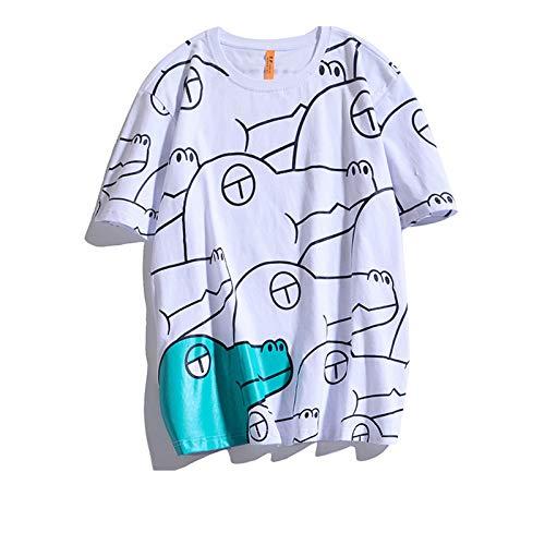 SSBZYES Camisetas para Hombre, Camisetas De Manga Corta, Camisetas De Algodón para Hombre, Estampado De Moda, Camisetas Casuales Holgadas Sin Cuello, Camisetas De Fondo, Camisetas De Pareja