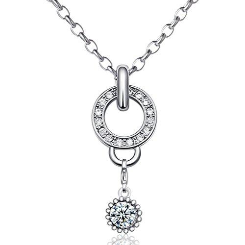 Morella Damen Charms Halskette Edelstahl 70 cm mit Charms Anhänger Amulett in Samtbeutel
