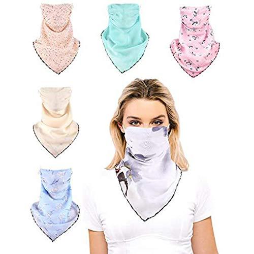 URIBAKY Bedruckte Multifunktionstuch Gesichtsmaske Atmungsaktiv Schlauchtuch Damen Halstuch Schutzmasken,Herren Schlauchschal Outdoor UV Staubschutz Mund-Tuch Motorrad Fahrrad Joggen Schal (A A B)