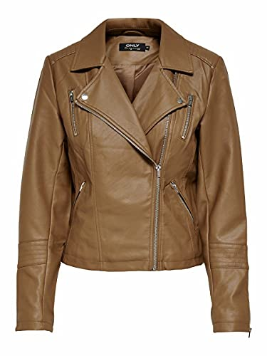 Only Onlgemma Faux Leather Biker Otw Noos Chaqueta para Mujer