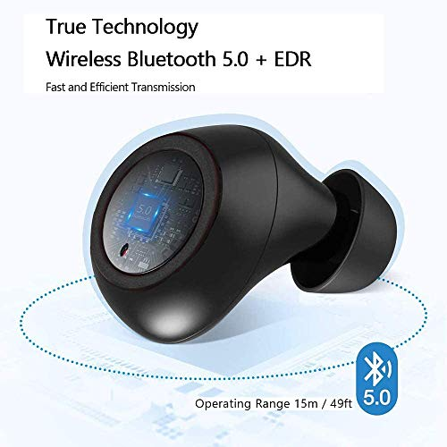 Auriculares Inalámbricos Bluetooth 5 aptX Graves Mejorados,Auriculares Inalambricos con Microfono,Reproducci 30 Horas In-Ear Earbuds,IPX7 Impermeable Headphones, Control Táctil,para iPhone y Android