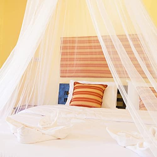 Zoomyo In- und Outdoor XXL Moskitonetz Mückenschutz - Mückennetz für Einzel- und Doppelbetten. Insektennetz Betthimmel Höhe ca. 2,5 m unterer Umfang ca. 12,5 m