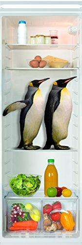 Plage Vinilo de decoracion para nevera, frigorifico y muebles de cocina -Pinguinos, 180 x 59,5 cm