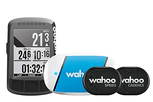 Wahoo Fitness ELEMNT Bolt Bike Computer Bundle, Unisex Adulto, Black
