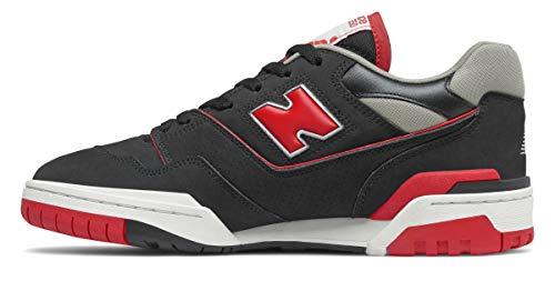 New Balance - Zapatillas de estilo de vida, color negro/rojo, BB550SG1.