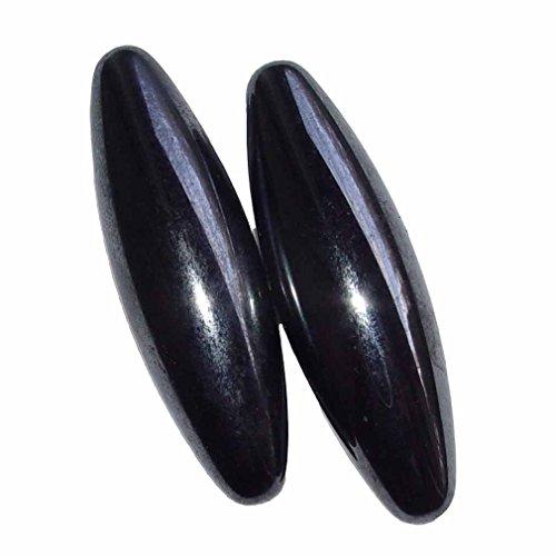 1 Paar Magnete in Oliven Form aus magnetisiertem Hämatit (Blutstein) auch singende Steine genannt Größe L: ca. 60 mm (4534)