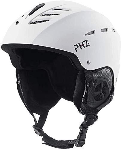 PHZ Casco de Deportes Casco de Nieve para Esquí y Montañismo para Adultos, Casco de esquí Certificado CE para esquí, patineta, Protector
