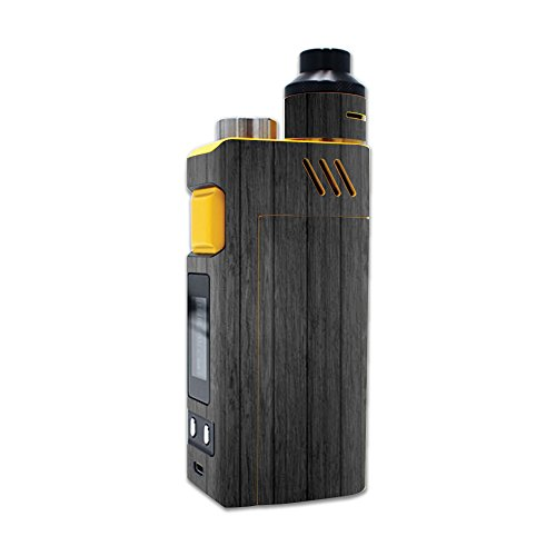 MightySkins Skin Compatible with iJoy RDTA Box 200W – Black Wood | Protective, Durable, and Unique Vinyl Decal wrap Cover | Easy to Apply, Remove, and Change Styles | Made in The USA