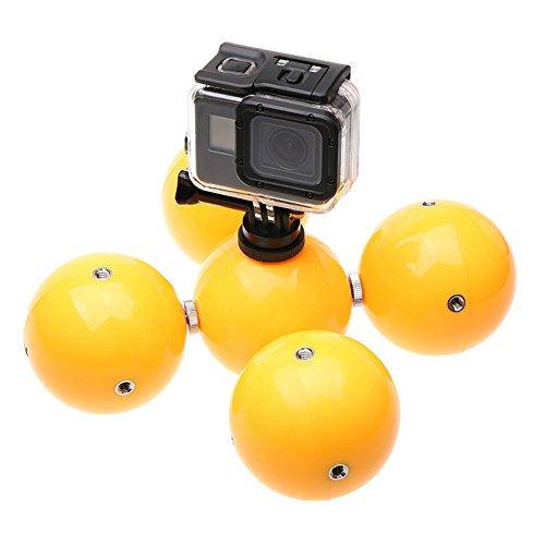 Meijunter Unterwasser Auftriebs Ball für GoPro Hero 7/6/5 Black Hero SJCAM Xiaoyi Kamera, 5 in 1 Multifunktion Schnorchel Gerät Schwimmend Fotografie Buoy Ball Zubehör