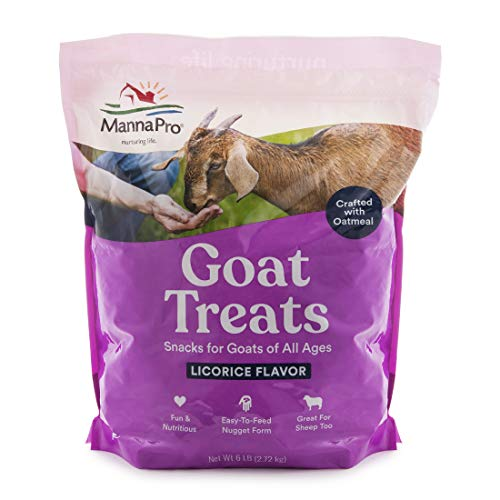 Manna Pro Goat Treats | Made With Oatmeal | 6 Pounds