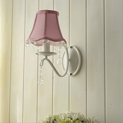 GJ Applique Murale en Cristal Rural - Europe du Nord Simple Fille Enfant Princesse Chambre Chambre Lampe de chevet GJV (Color : Pink)