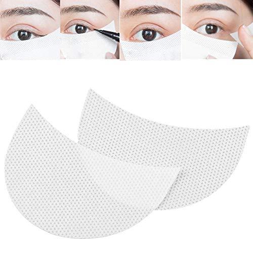 30PCS patchs jetables pour les ombres à paupières, maquillage autocollant pour les yeux autocollant peluche douce sur les bandes extension de faux cils jetable non-tissé patch