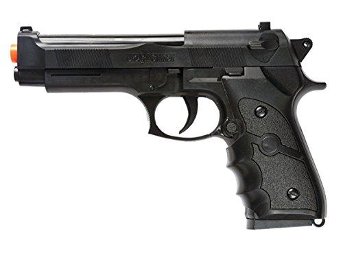 M757B 200 FPS Spring Airsoft Gun M9 92 6MM FS Beretta Tactical Hand Gun w/BBS