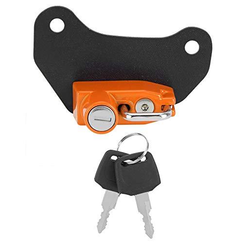 Duokon helmslot, motorfiets modificatie aluminiumlegering helmslot haak geschikt voor Indian Scout default oranje