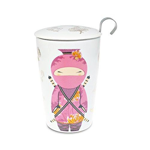 Eigenart TEAEVE® Teetasse mit Sieb und Deckel, Little Ninja Rose'