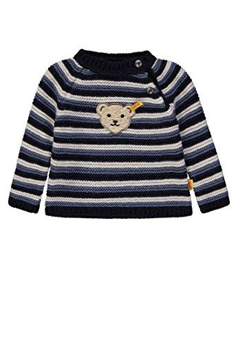 Steiff Baby-Jungen 1/1 Arm Pullover, Blau (y/d Stripe|Multicolored 0001), 86