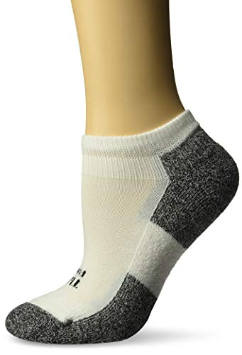 Thorlos Damen Lite Gepolsterte Low Cut Mini-Socken Small weiß