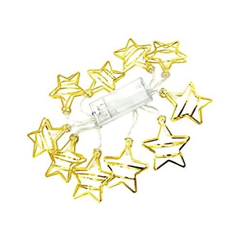 OSALADI LED Stjärna Ljus Twinkle Fairy Lights Pentagram Fönsterlampor Hängande LED Lampa Självständighet Dag Inredning För Inomhus Utomhus Trädgård Party We Träd Inget Batteri