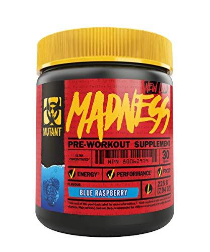 Mutant Madness – Definiert den Pre-Workout-Booster neu und bietet eine komplett neue Erfahrung!! Exklusiv für hoch intensive Workouts entwickelt Blaue Himbeere (1 x 225 g)