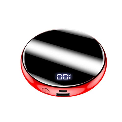 Wttfc Deluxe Banco de la energía, Ultra Delgado diseño portátil Cargador, Mini Ultra Compacto de Alta Velocidad de Carga más pequeño más Ligero Baterías Externas,Rojo,20000mAh
