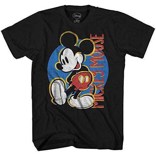 Mickey Mouse Final Touches Disneyland Disney World Tee Funny Humor Adult Mens Graphic T-shirt (Medium, Black)