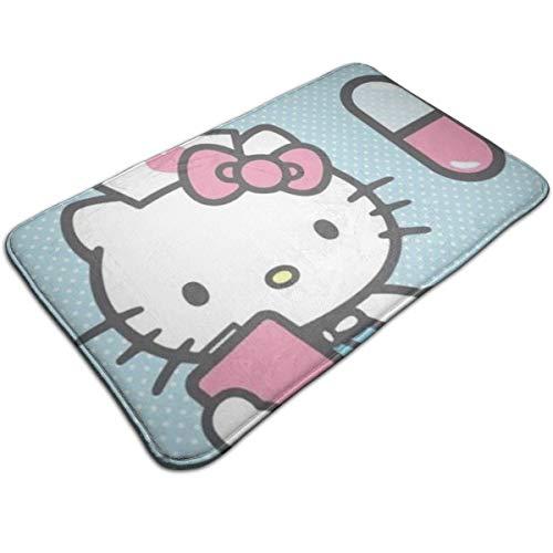 Alfombrilla de baño DNBCJJ para enfermera Hello Kitty antideslizante absorbe suave alfombra...