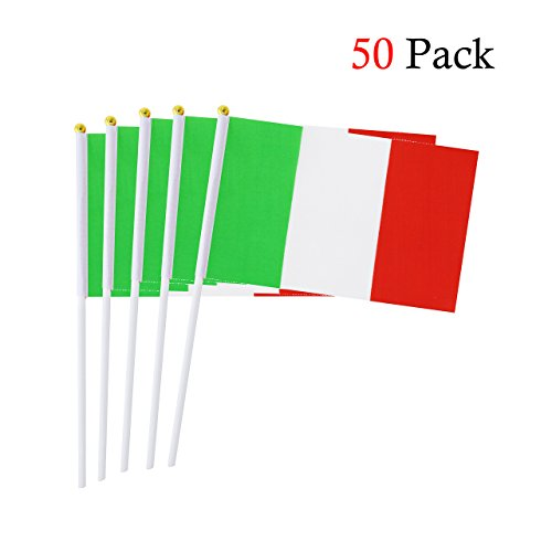 Hemore Hand Flagge Italien Stockflagge Stab/Stock Fahne