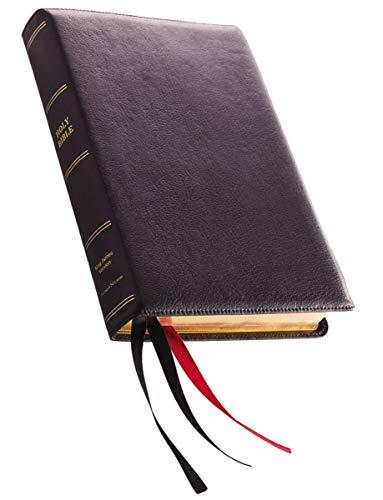 KJV, Reference Bible, Center-Column Giant Print, Premium Goatskin Leather,...