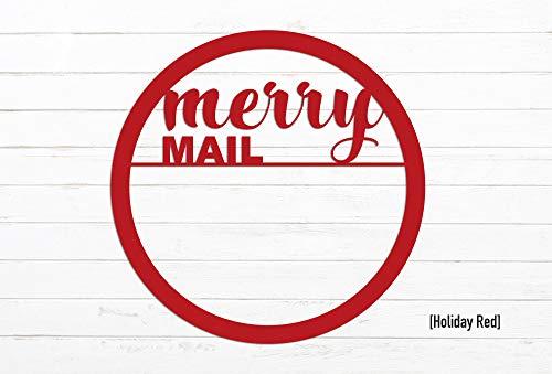 Tamengi - Soporte magnético para tarjetas de Navidad, diseño de mensaje de feliz correo, metal